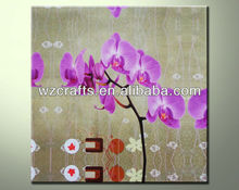 Printed Flower Oil Painting of Butterfly Orchid