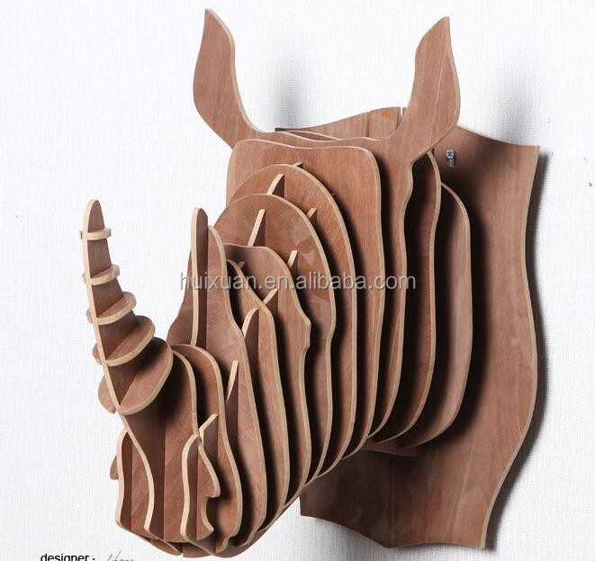 Modern overmantel decoration rhino head wall decor