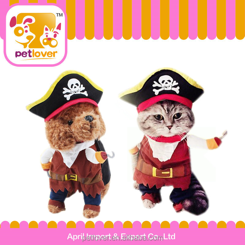 Pet clothe cat Pirate Captain Suit