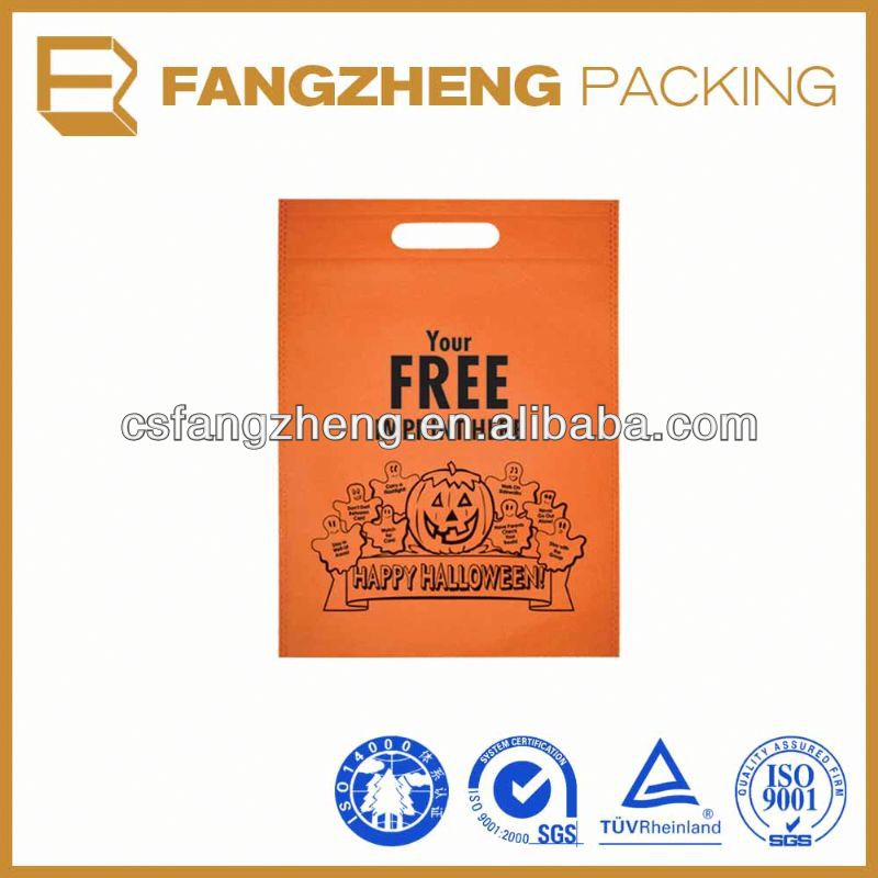 2015 high qualitydie cut shopper/plastic die cut bag