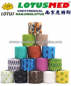 2014 factory offer crepe sports tape cotton cohesive bandage