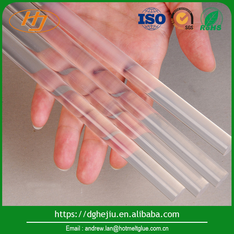 Transparent Silicone glue stick hot melt adhesive for paper seam binding on packing