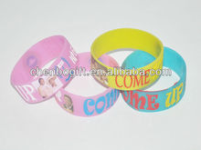 25mm width silicone wristband / silk screen printing silicone bracelet / 1 inch silicone wrist band