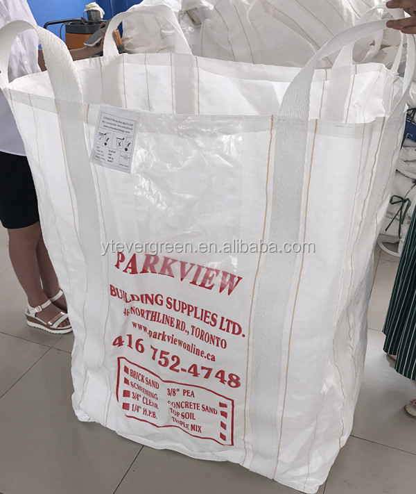 Multiuse PP plastic woven bulk sacks 1000kg/pp breathable big bag