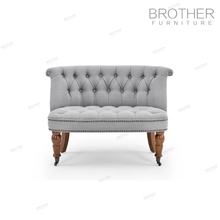 Luxury furniture home 2 seater sofa hotel decorative accent chair with fabric cushion