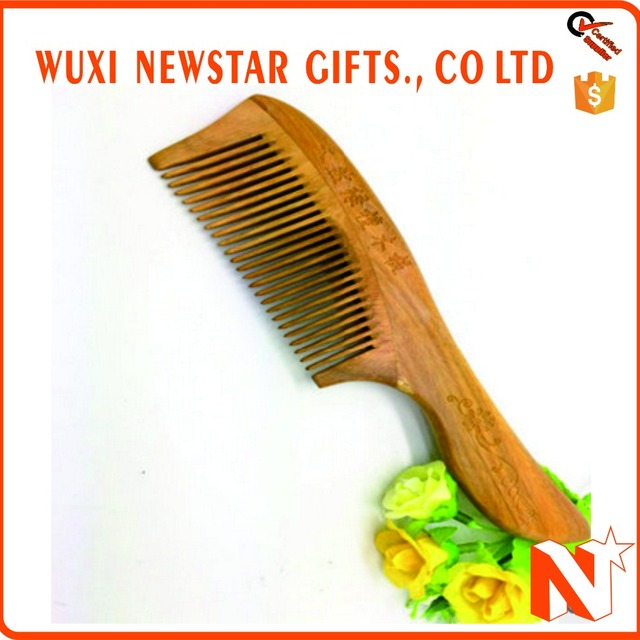 Wood Color Hair Styling Tool Beard Wooden Comb