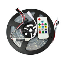 5m 16.5ft DC5V ws2812b 2812 IC 5050 SMD rgb strip IP67 Dream Magic Color flashing led strip light With Wireless Remote Control