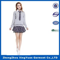 2016 Girl sex school uniform design high school girls sex uniform