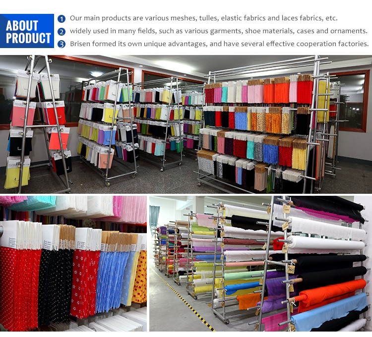 Fashion Red Mesh Fabrics Factory