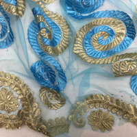 high quality new pattern french lace fabric /types of laces for garments