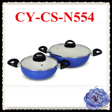 multifunctional pressed cookware set commercial ceramic wok with bakelite handle