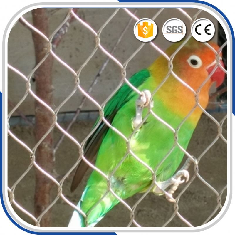 diamond woven zoo fencing animal enclousure protecting wire steel cable mesh