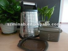 high quality stainless steel kitchen food grater with bottom tray