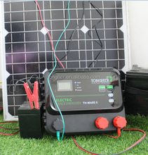 Malaysia poultry electric fence energiser,battery powered solar energiser for farm