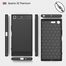 HUYSHE for Sony Xperia XZ Premium mobile phone tpu case, carbon fiber back cover for sony xz premium newest model accessories