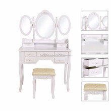 Cheap rustic high quality varsace wooden wall mounted dressing table