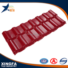 Brown red color waterproofing bamboo shaped pvc synthetic resin plastic wave roof tile