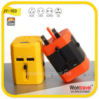 JY-163 All in one travel adapter usb power adapter mains travel plug supply guangdong