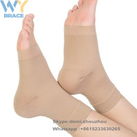 Medical Compression Breathable Elastic Thin Ankle Brace Support Sleeves for Ankle Swelling Achilles Tendonitis