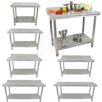 Reinforced Frame Resturant & Catering Kitchen stainless steel work tables