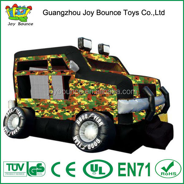 trampoline big bouncer,inflatable bouncy jumper.army jeep car jumping castle