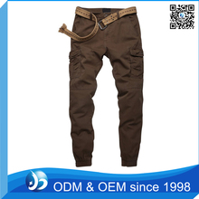 Hot Sale Elastic Cuff 6 Pocket Cargo Pants Mens