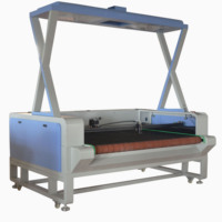 vision CCD camera laser cutting machine for printed sublimation fabrics textiles