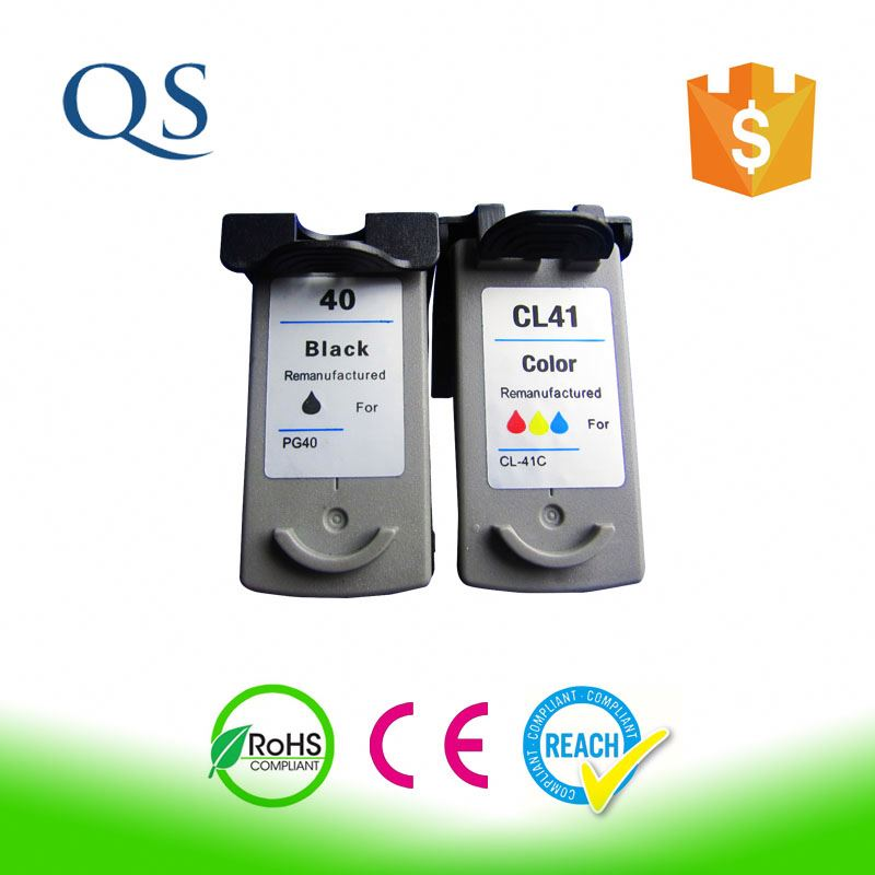 Excellent quality inkjet cartridge pg40/cl41 compatible PIXMA iP1880 for canon remanufactured ink cartridge factory