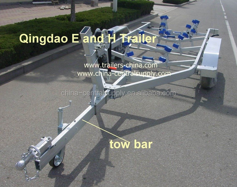 Heavy duty 6.5m tri-axle flat /bed boat trailer of manufacturer/2500kgs(BCT0107)