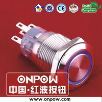 ONPOW 19mm latching push button switch illuminated switch (UL approved)