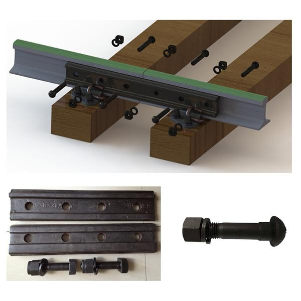 UIC standard 6 holes Rail Splice Bar with track bolt sets