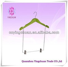Child size wire hangers wood