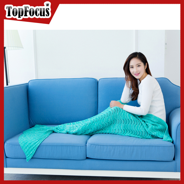 2016 Fashion Design Knitted Adult Mermaid Tails Blanket for sale