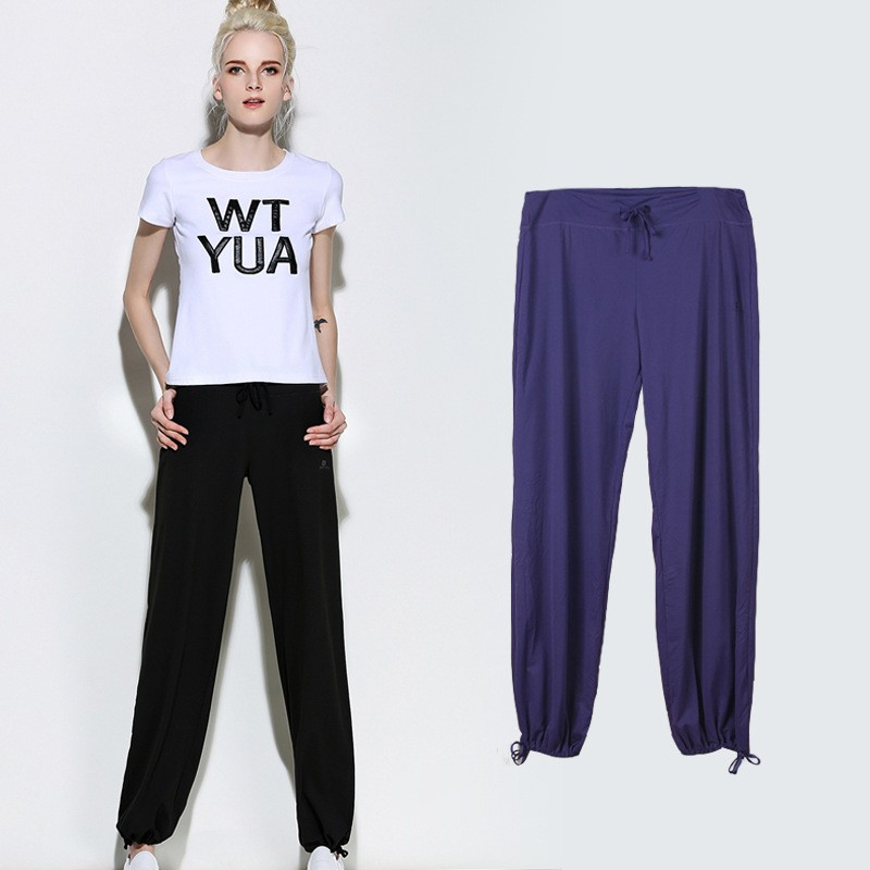 Custom Women sexy yoga pants loose gym wear outdoor casual pants