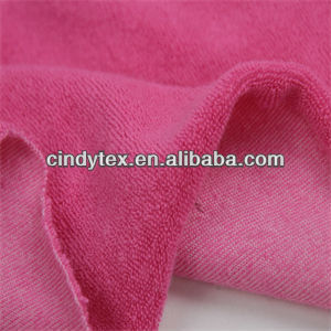 32s drapery soft brushed cotton spandex knitted velour fabrics