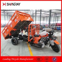 Made in China OEM Shineray Five Wheels 250Cc Hydraulic Cargo Tipper Motorcycle Tricycle