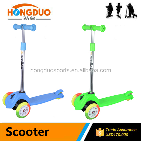 New design 3 wheel light up scooter kids for sale