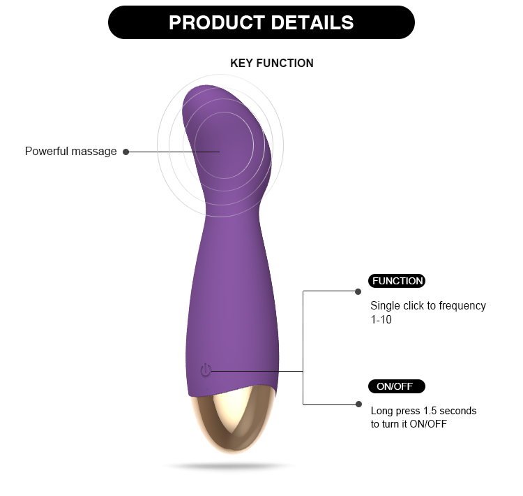 Mini G spot Flexible Female Sex Toys Pulsating Personal Massager internal Vibrator