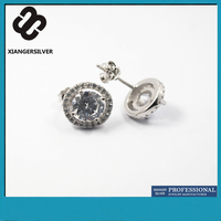 Beautiful Temperament Micro Pave 925 Sterling