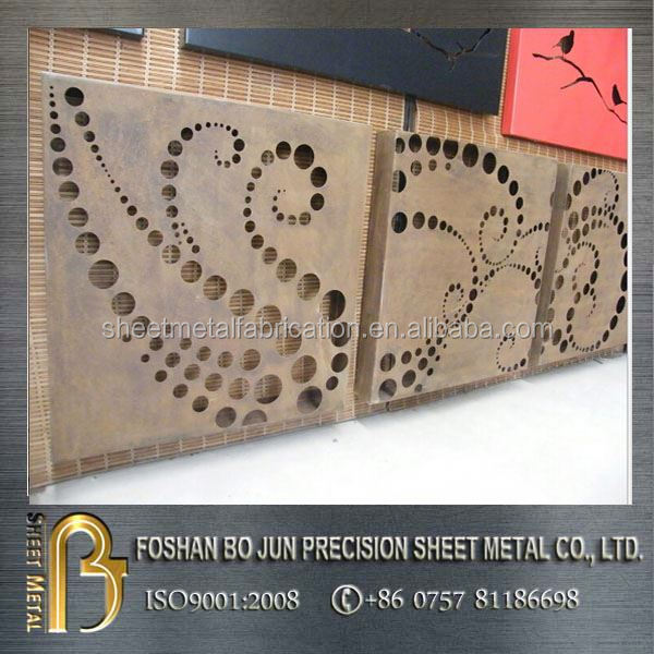 manufacturing custom decorative screen door grill , laser cutting metal screen made in china