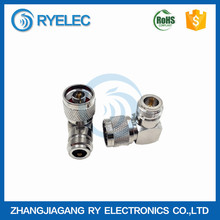 Hot sale nickel plated N male to N female with 90 degree right angle RF adapter