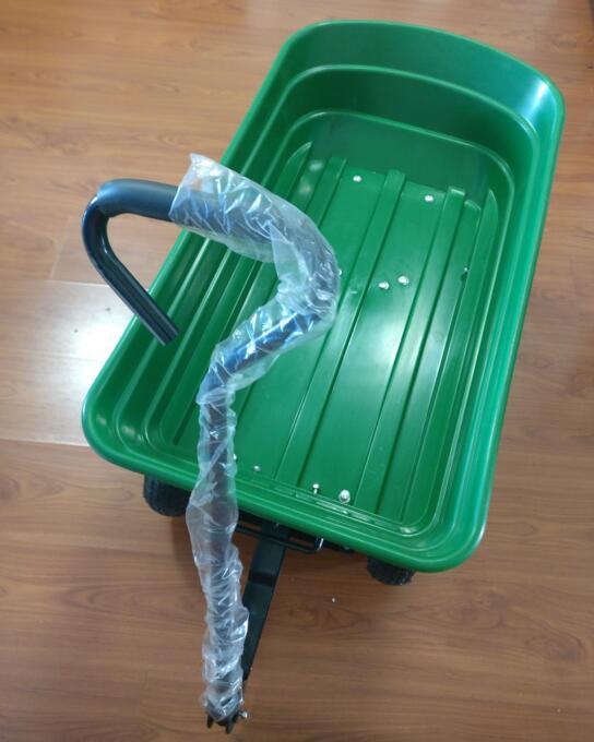 Plastic Tray Enclose Type Garden Trolley Wagon Cart