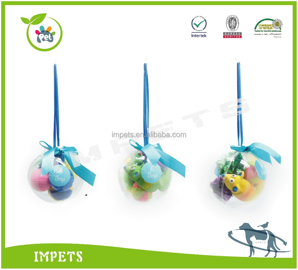 High quality cat toys colorful balls and mouse,gift suit package