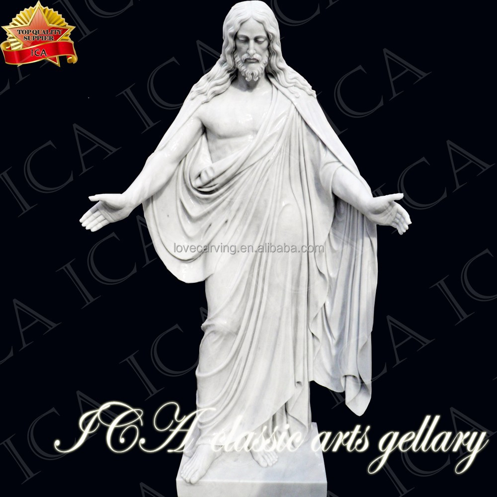 white marble high quality stone statue of jesus