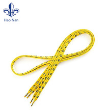 Wholesale polyester printed flat custom shoelaces manufacturer/ waxed shoe laces