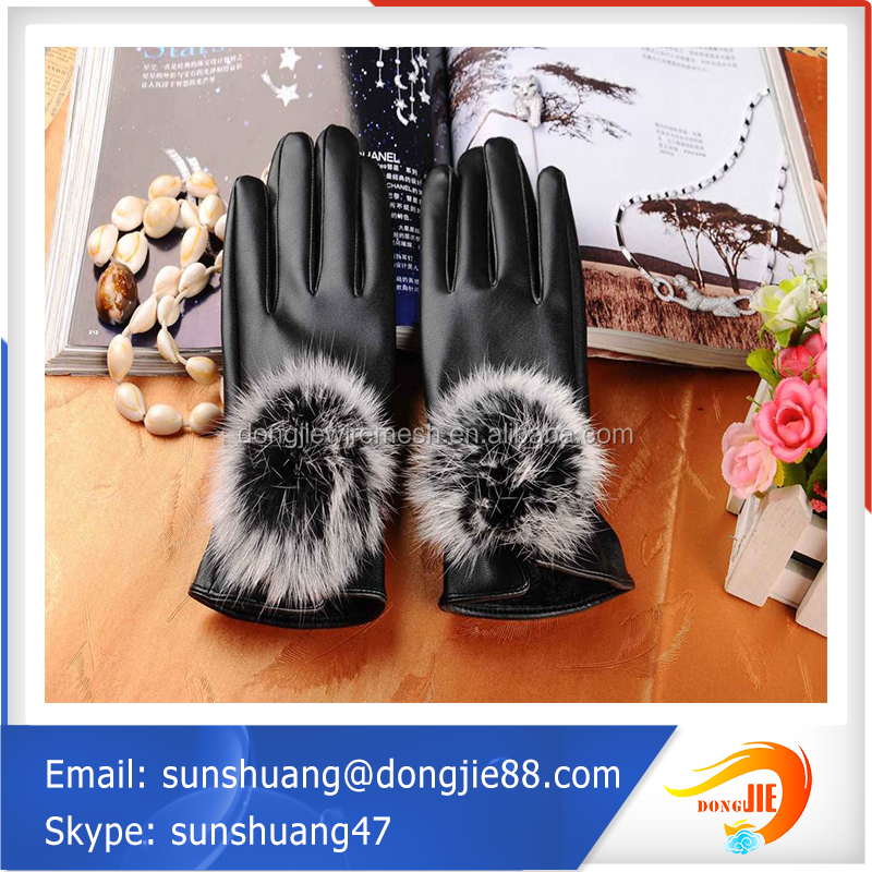 China supplier wholesale price Winter sheep leather sheel women leather glove