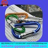 5CM D shape stainless steel Aluminum alloy carabiner hook retractable key chain Mountain climbing buckle with screw