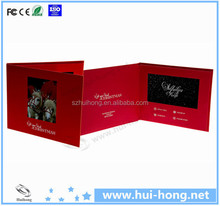 Recyclable Paper Digital Video Cards Celebration Greeting Cards for Gifts