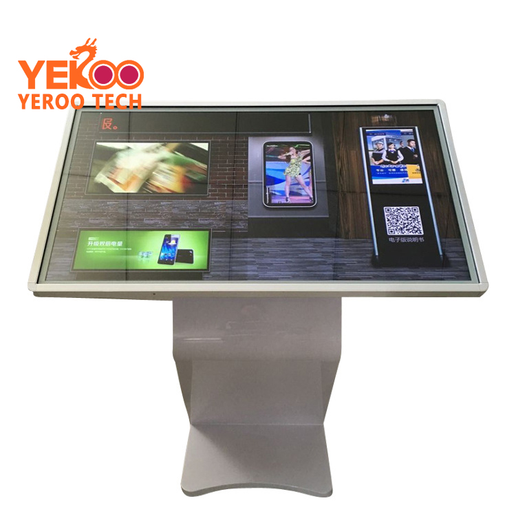 Indoor lcd Display 55 inch Wifi Hotspot Totem Touch Screen Restaurant Menu Advertising Player