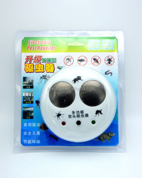 EU/US Plug Round Electronic Ultrasonic Mosquito Repeller Pest Frequency Adjustable Chaser Mosquito Repeller Smart Home